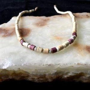 Hippie Boho 70s Beach Choker Stone Beaded Necklace